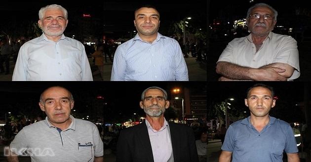 Elazığlılar 15 Temmuz darbe girişiminin yıl dönümünde duygularını paylaştı