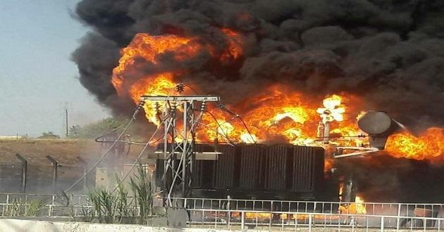 Elazığ'da Trafo Yangını ucuz atlatıldı