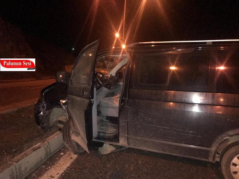 Alkollü Şoför Kovancılar`da Araca Çarptı Palu`da Kaza Yaptı