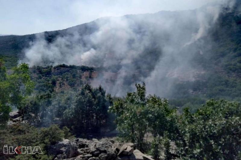Arıcak`ta 4 gündür devam eden orman yangını hala söndürülemedi