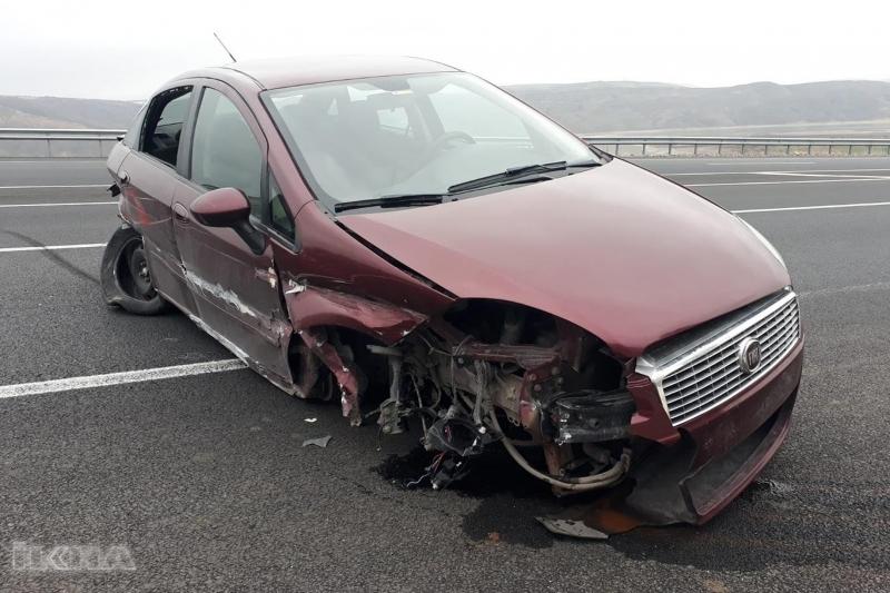 Aşırı hız kaza getirdi: Bir yaralı