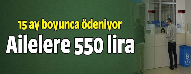 Asker ailesine 550 lira