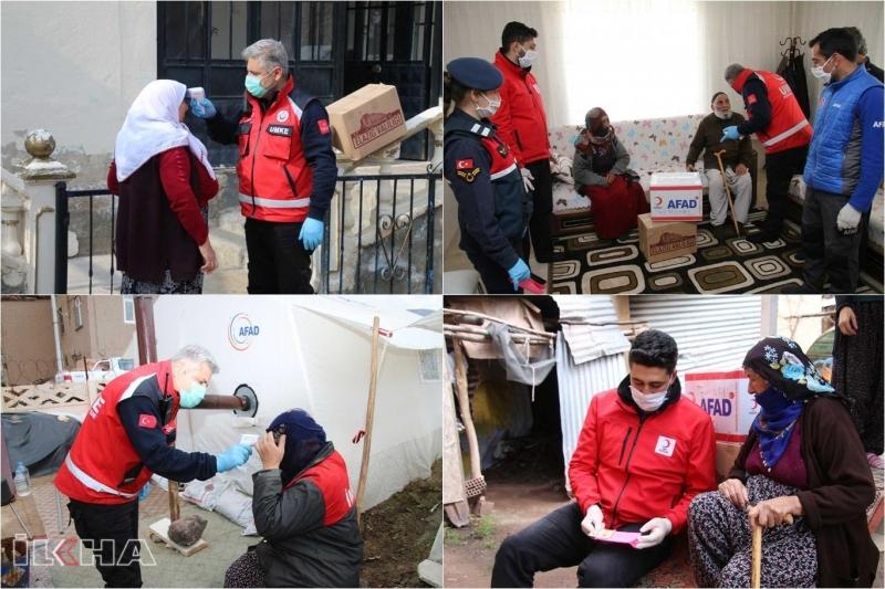 Elazığ'da evinden çıkamayan yaşlılara yönelik yardım çalışmaları devam ediyor