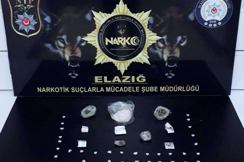 Elazığ'da uyuşturucu ele geçirildi