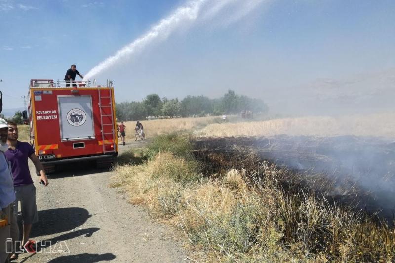Elektrik akımına kapılan karga yangına sebep oldu