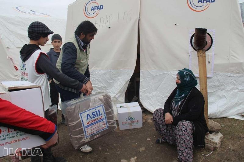 IHO-EBRAR deprem bölgesine yardımlarını ulaştırdı