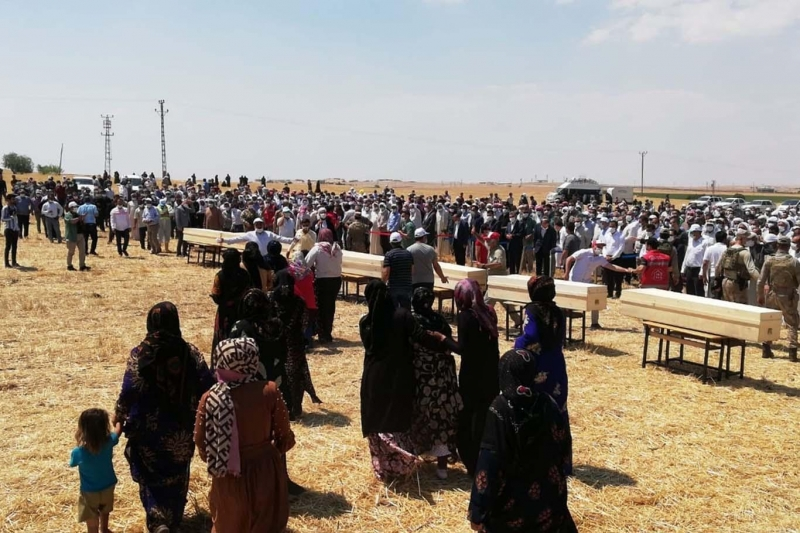 Konya'daki kazada vefat eden 7 kişi Şanlıurfa'da defnedildi