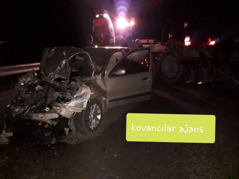 Kovancılar`da Kaza : 2 Yaralı