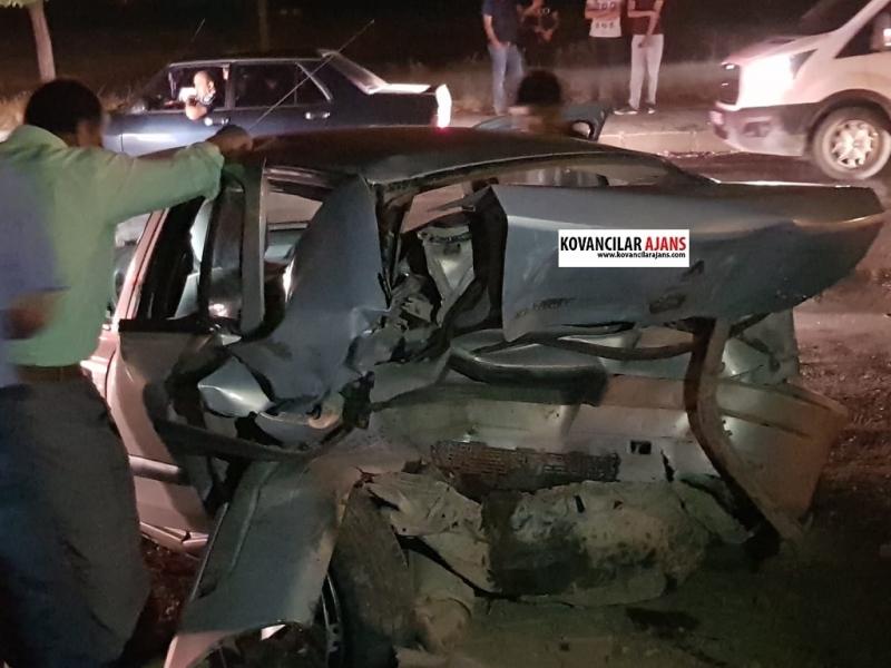 Kovancılar`da Kaza: 5 Yaralı