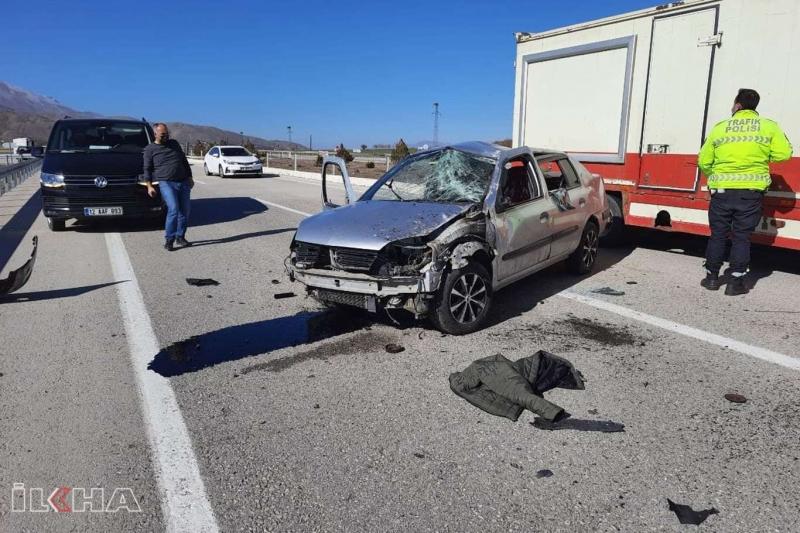 Kovancılar'da trafik kazası 1 yaralı