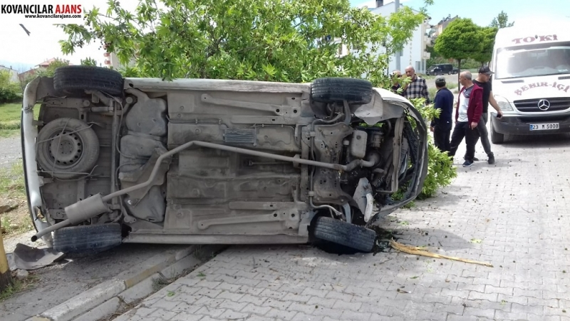 Otomobil Ağaca Çaptı Takla Attı: 1 Yaralı