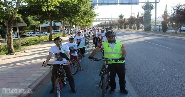 """Dün Elazığ'da """"Kudüs için Yola Çık"""" sloganıyla bisiklet turu düzenlendi"""